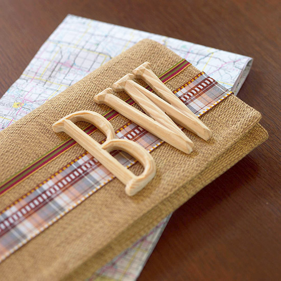 Easy Road Map Folder Made from a Place Mat