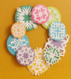 Multicolor Snowflake Wreath