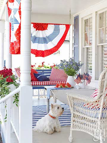 Pretty Ways to Decorate in Red, White & Blue