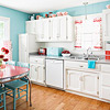 Retro Kitchen with Red Accents