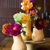 Fall Flowers in Gourd Vases