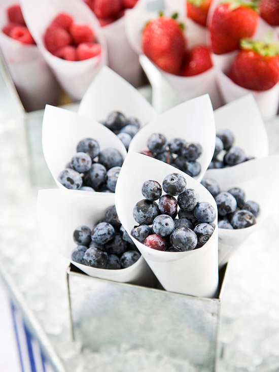 Berry cones healthy summertime dessert