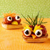 Open-Face Bird Sandwiches