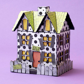 Make a Haunted House for Halloween Candy