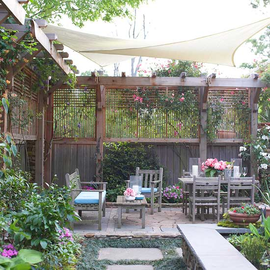 create privacy in your yard - Garden Design Long Narrow Plot