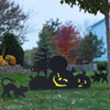 Cat and Jack-'O-Lantern Silhouettes