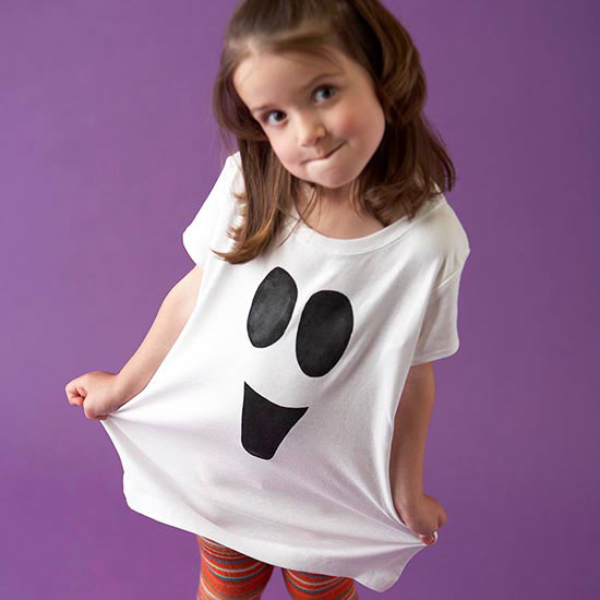 Easy Painted Ghost Shirt for Halloween
