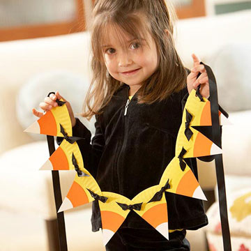candy corn garland craft