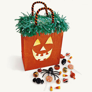 Pumpkin Trick-or-Treat Sack for Halloween