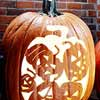 Five Jack-'O-Lanterns Pumpkin