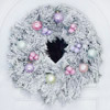 Add Pastel Color to a Christmas Wreath