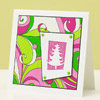 Pink & Green Christmas Card