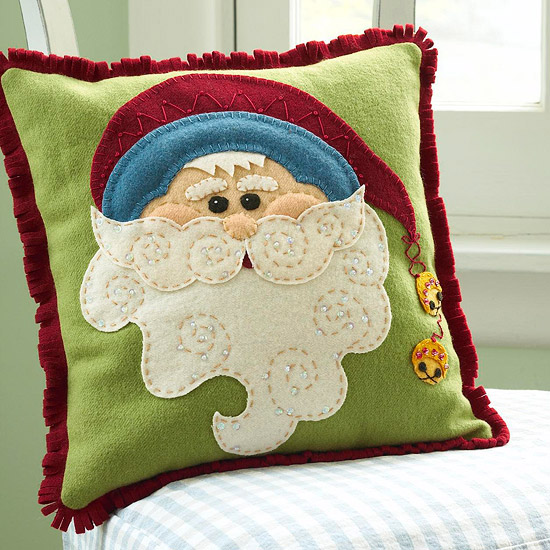 Jolly Santa Claus Pillow