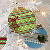 Decorated Paper Christmas Tree Ornaments