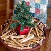 Christmas Clothespin Pot