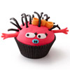 Rosy Pink Monster Cupcake