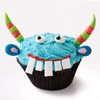 Blue Monster Cupcake