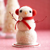 Pom-Pom Snowman Figurine