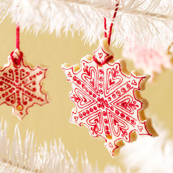 Salt-Dough Cookie Snowflake Ornaments