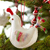 Pretty Felt Partridge Ornament