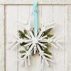 Create a Wreath Out of Wooden Snowflakes