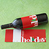 Holiday Greeting Wine Label