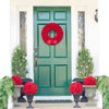 Use Seasonal Colors for Christmas Door Decorations