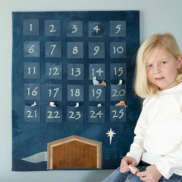 Felt Advent Calendar for Christmas