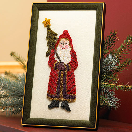 Needle Punch Santa Art for Christmas