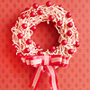Make a Fun Christmas Wreath from Peppermint Twists