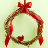 Use Grapevine and Faux Cardinals in a Wreath