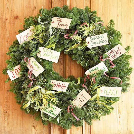 Individualize a Wreath with Gift Tags