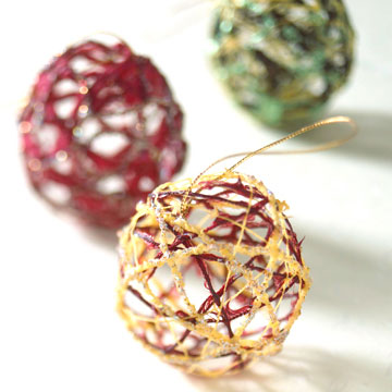 Ball-of-String Christmas Ornament