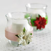 Votive Candles with Christmas Flowers