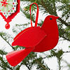 Red Bird Christmas Ornament