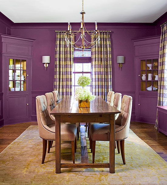 Fancy home decor purple power for Purple dining room wall art