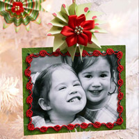 Framed Photo Christmas Ornament