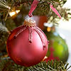 Jeweled Pink Christmas Ornament