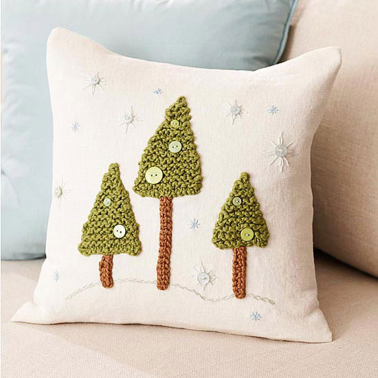 Snowy Woodland Pillow