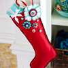 Flowered Felt Stocking