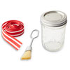 Ribbon-Tied Jar for Brush-On Sauce: Supplies