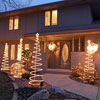 White Christmas Lighting Display