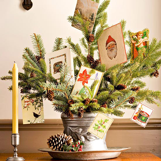 Evergreen Christmas Card Display