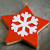 Snowflake & Star Felt Ornament