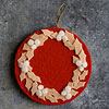 Holly Wreath Felt Ornament