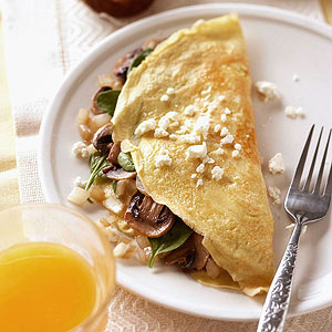 Spinach-and-Feta Omelet