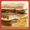 Healthy, Satisfying Sandwich Solution: Roasted Red Pepper and Hummus Sandwich