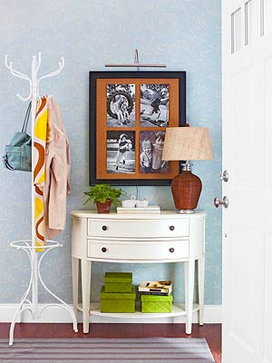 guests come with things and youll have to find a place for themeven in a small entryway if you dont have a closet at least have a freestanding rack or - Small Entryway Decor