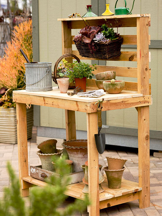 Awesome Gardening Bench Plans Part - 14: Better Homes And Gardens