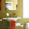 Green Bath with Deep Orange Accents